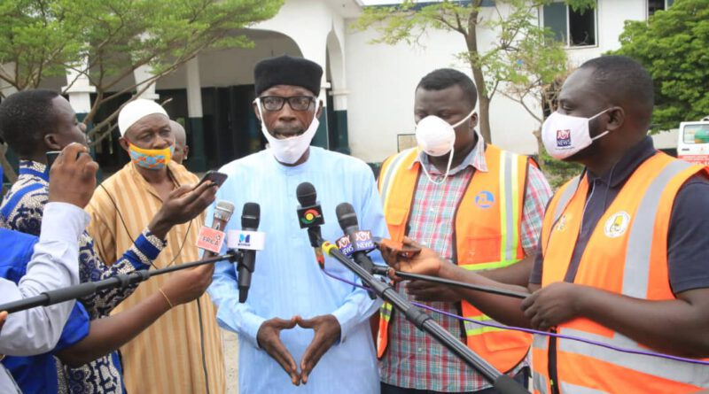 Zoomlion responds to Chief Imam's appeal by disinfecting central mosque