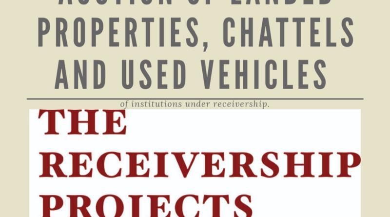 Receiver, sell properties, Savings, Loans companies