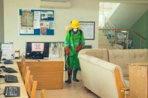 Ashesi University, disinfection, Zoomlion