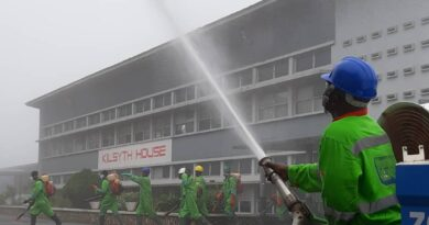 Aburi Girls and Ofori Panin Senior High Schools and St. Paul Technical School this morning benefited from the third phase of the disinfection exercise of SHSs in the Eastern Region'