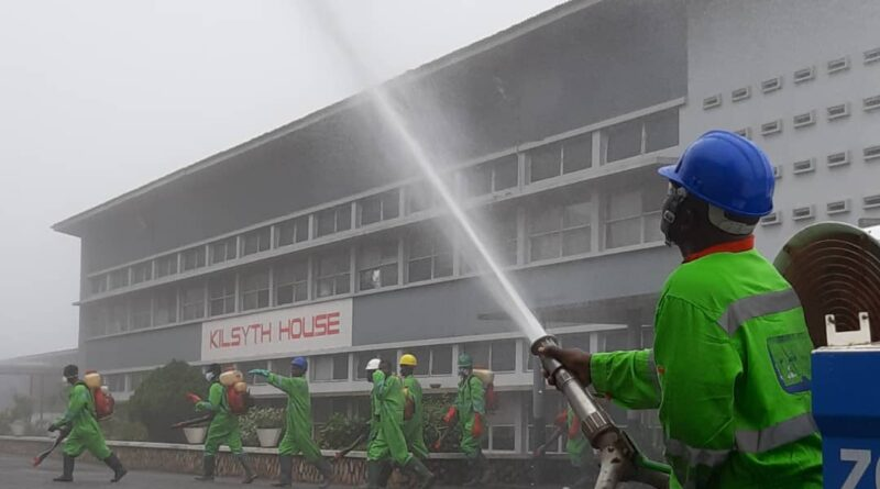 Aburi Girls and Ofori Panin Senior High Schoolsand St.Paul Technical School this morning benefited from the third phase of the disinfection exercise of SHSs in the Eastern Region'