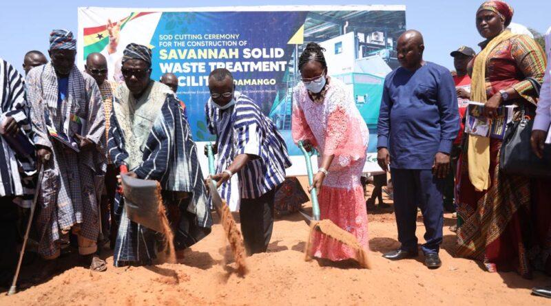 Savannah, Damongo, solid waste plant,