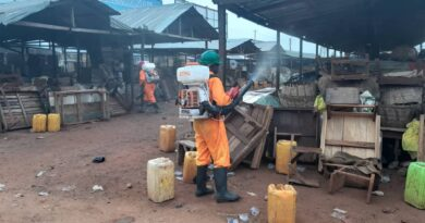 Techiman, Zoomlion, market, disinfection