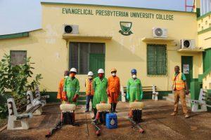 Registrar, Peki, college of education, Zoomlion, disinfection