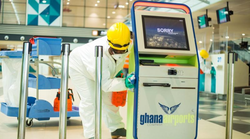 Airport, Kotoka, Zoomlion, disinfection