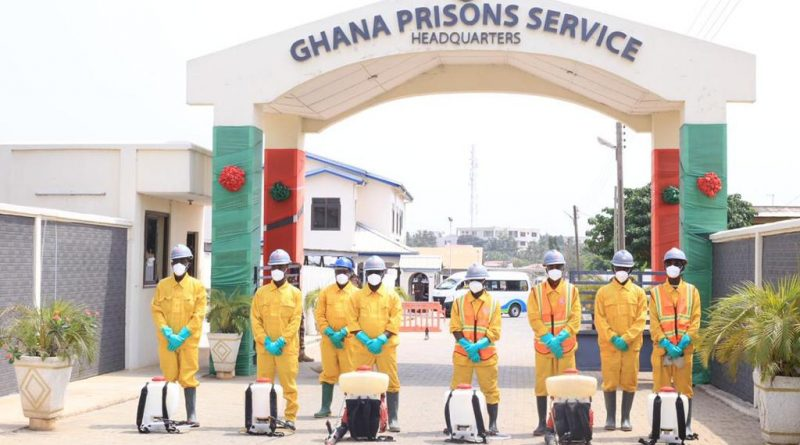 Prisons Service, Zoomlion, disinfection, covid-19