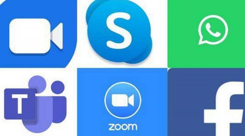 WhatsApp, Zoom, Facebook