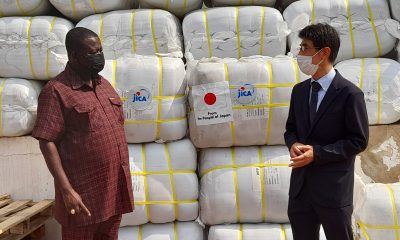 JICA donates 3,080 Blankets to NaDMO