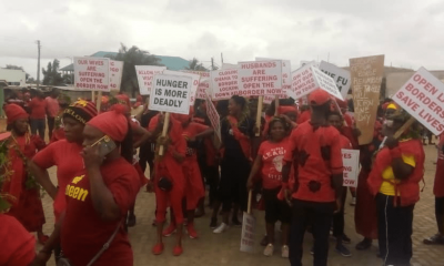 'Open Our Border', Aflao, residents, demonstrates