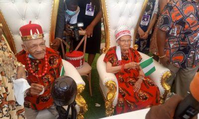 Viola Ford Fletcher and Hughes Van Ellis visit Eze Ndigbo of Ghana